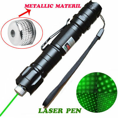 High Power 10 Miles Range 532nm Green Laser Pointer Light Lazer Pen Visible Beam
