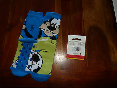 DISNEY Chaussettes Chaussons antidérapantes PLUTO Mickey 27 / 30 NEUF