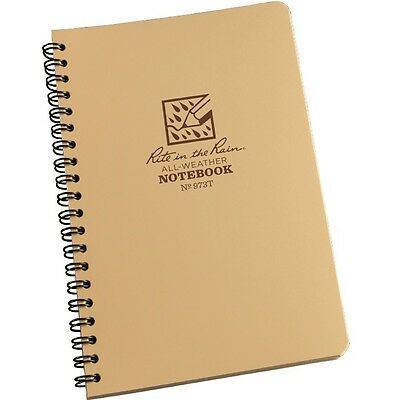"""Rite in the Rain 973T All-Weather Universal Spiral Notebook, Tan, 4 5/8"""" x 7"""""""