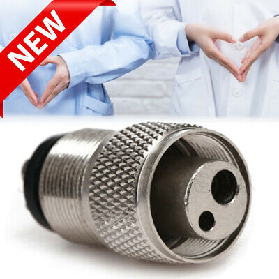 Dental High Speed Handpiece Tubing Adapter Connector Changer 2 Holes to 4 Holes