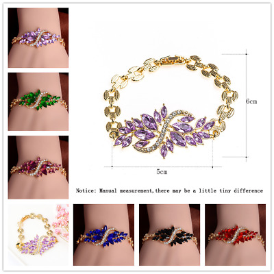 New Fashion Women Gold Plated Bangle/Chain Crystal Rhinestone Bracelet Jewelry