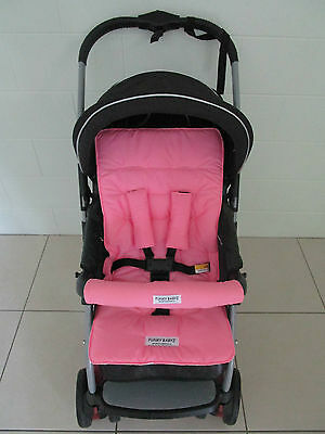 *PINK*universal pram,stroller liner set-includes front belly bar cover.