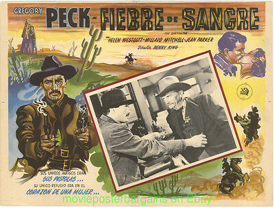 THE GUNFIGHTER Lobby Card Size 12.5x17 Inch Mexican Movie Poster GREGORY PECK