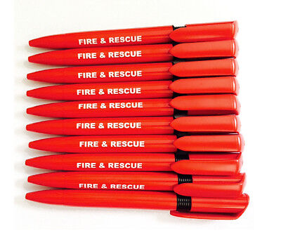 20 x Quality Pens Branded FIRE & RESCUE With Black Ink  for Emergency Services