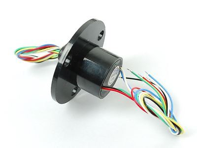 Adafruit Slip Ring with Flange - 22mm diameter, 6 wires, max 240V @ 2A