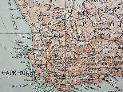 1919 Large Map ~ Africa South Cape Of Good Hope Transvaal Mozambique Madagascar