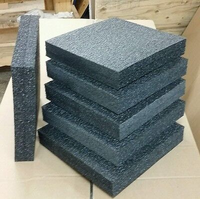 "6 Sheets - 12"" x 12"" x 2"" POLYETHYLENE PLANK FOAM, Density 1.7pcf BEST PRICE PE"