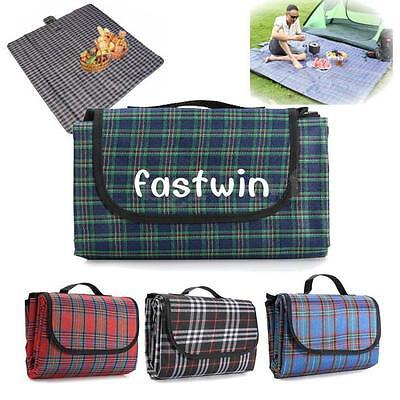 HOT Outdoor Beach Camping Waterproof Backing Picnic Rug Mat Folding Blanket FW