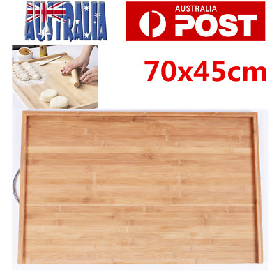 Large Bamboo Chopping Cutting Board Hard Carbonised with Hook 45x70cm AU