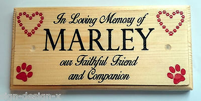 Personalised Pet Memorial Sign, In Loving Memory Plaque Dog Garden Gate Bench