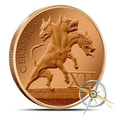"The 12 Labors Of Hercules ""Cerberus"" 1 oz .999 Copper BU Round USA Bullion Coin"