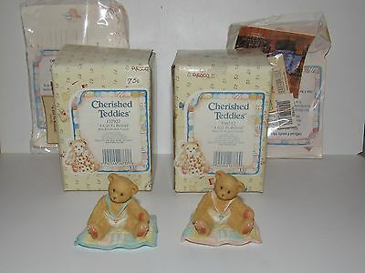 1997 CHERISHED TEDDIES A GIFT TO BEHOLD BEARS BOY & GIRL - MIB w/COA