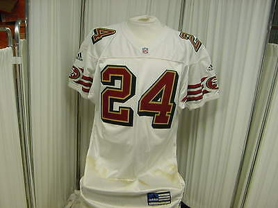 1996 San Francisco 49ers Official Game Worn/Used Jersey Worn by #24 Size- 44