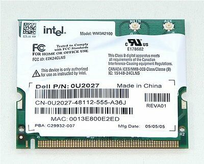 INTEL WIRELESS CARD WM3A2100 DRIVERS FOR WINDOWS XP