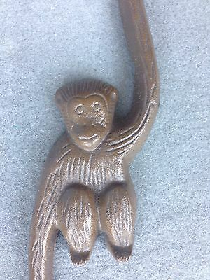 Cast Iron Metal Monkey Plant Hanger  Cast Iron Whimsical