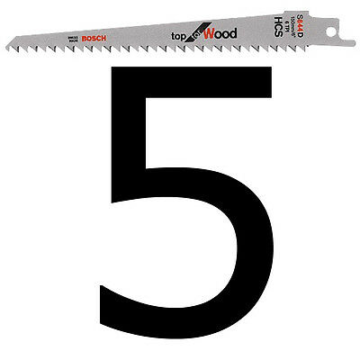 5 Bosch S644D Replacement Blades for Florabest Cordless Garden WOOD Pruning Saw