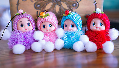 Doll Pompom Kids Gift 8-10cm Loop Charm Cute Toy Girl Soft Vinyl Play Fluffy