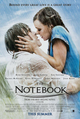THE NOTEBOOK MOVIE POSTER 1 Sided ORIGINAL ROLLED 27x40 RYAN GOSLING