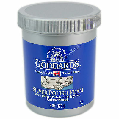 Goddards Silver Polish Foam 6OZ./170g Cleans, Shines, Protects in One Easy Step