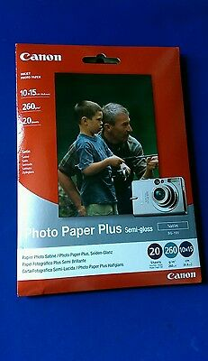 Canon Photo Paper Plus semi Gloss (SG-101)  (satin)20 Pack Inkjet Printers. (b37