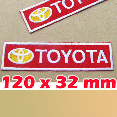 1 X TOYOTA LOGO Advertising Patch COROLLA YARIS CAMRY AVALON SIENNA PRIUS TACOMA