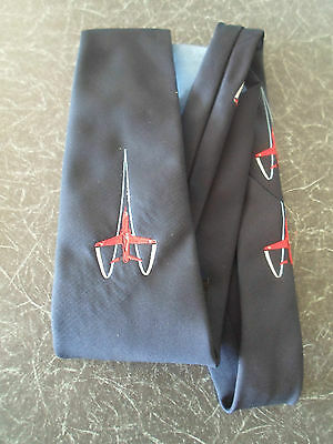 BLUE TIE ~ Alec Brook B.A.C. Spots Club RED ARROWS Design ~ Vintage 70s