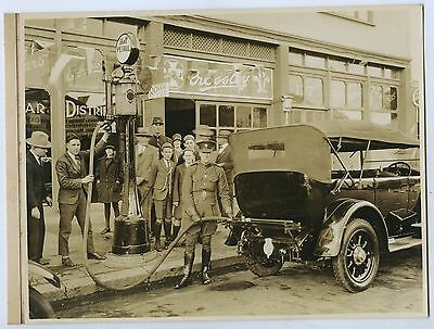 1927 Photo Royal Car Being Re-Fuelled Shell Petrol Adelaide By Darian Smith P8 .
