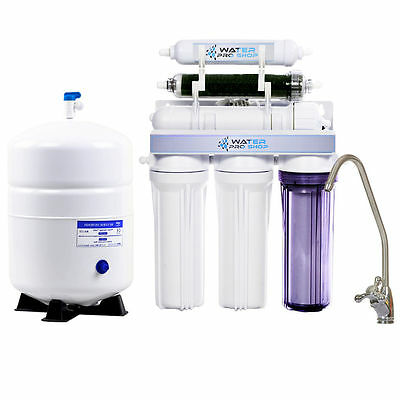 Duel 6 Stage Reverse Osmosis Water Filter With Permeate Pump Erp 1000