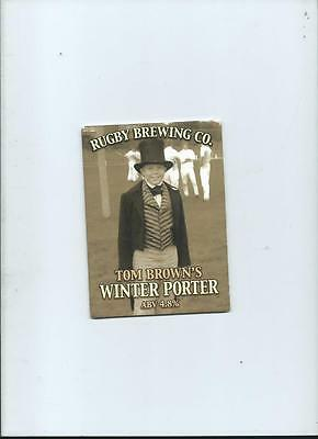 Rugby Brewing Tom Browns Winter Porte Ale Beer Pump Clip face Bar Collectible 40