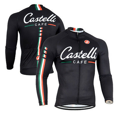 Casual Men Bike Breathable Clothing Wear Cycling Shirt Racing Long Sleeve Jersey