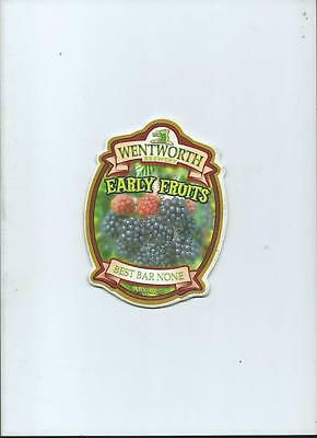 Wentworth Brewery Early Fruits Ale Beer Pump Clip Pub Bar Collectible 36