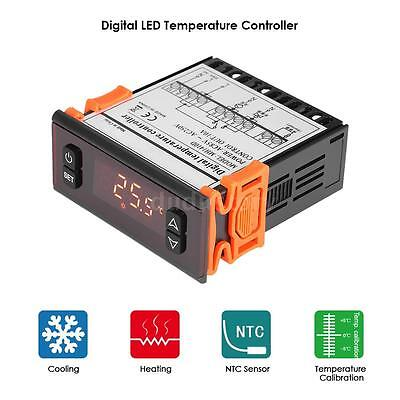 10A 250V Digital Temperature Controller Thermostat Thermocouple Sensor Temp UK