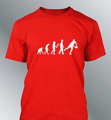 Tee shirt personnalise homme evolution RUGBY M L XL humour human sport