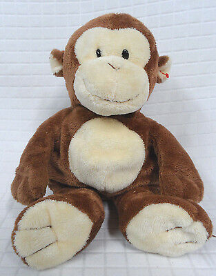 DANGLES Ty Pluffies TYLUX Soft MONKEY Lovey PLUSH Brown 2010 Plastic Eyes CLEAN