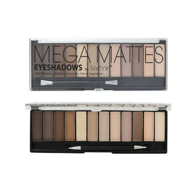 Technic Mega MATTE Nude Eyeshadow Palette 12 Shades Naked Natural