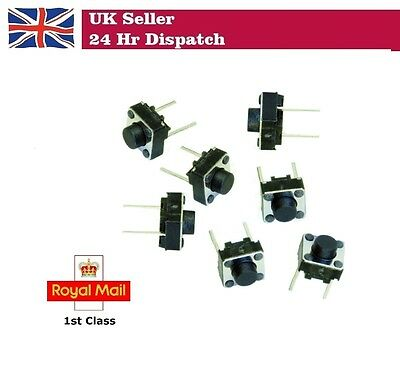 6mm x 6mm x 4mm DIP Push Button Momentary Tactile Switch 2 Pin 5 / 10 / 20 pcs