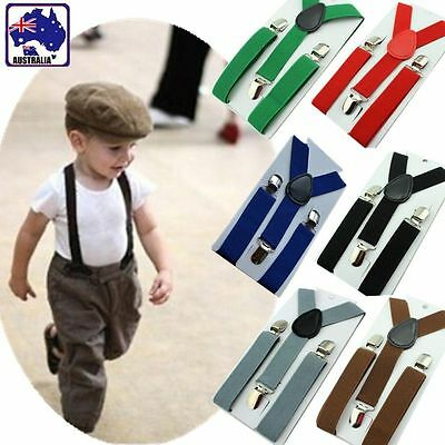 Kids Adjustable Braces Y-Back Toddler Clip-on Elastic Child Suspenders CSUSP 06