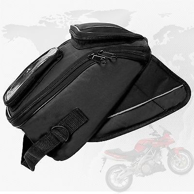 Mini Magnetic Tank Bag Motorbike Fuel Moto Sports Luggage iPhone & GPS Pouch Blk