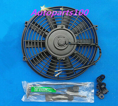 14 Inch 12V Volt Electric Pull Push Thermo Cooling Fan + Mounting kits