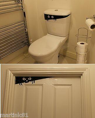 Halloween Door Toilet Cover Peeking Spooky Party Decoration Scene Setter