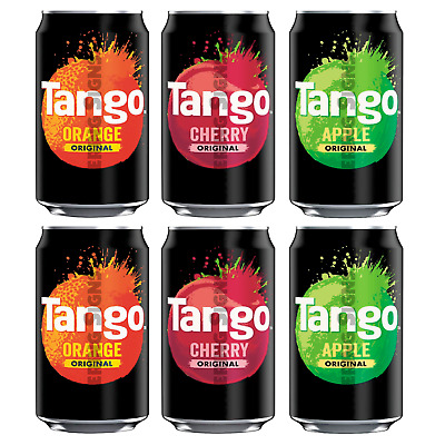Set of 6 Tango Drink Can Stickers - Ice cream Catering van cafe fridge decals