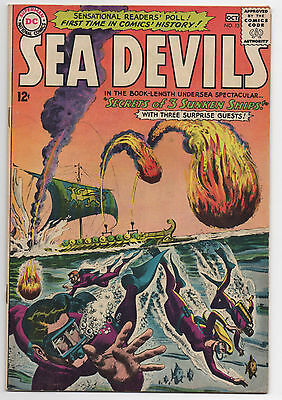 Dc Comics  Sea Devils  13  Joe Kubert Issue  Appears In Story  1963