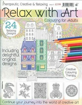 Relax With Art Colouring Book For Adults #3 ___ Brand New ___ Freepost Uk