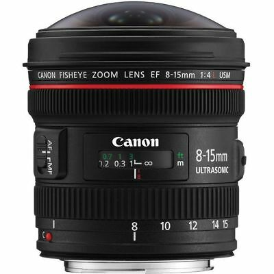 Canon EF 8-15mm f/4L Fisheye USM Lens - NEW