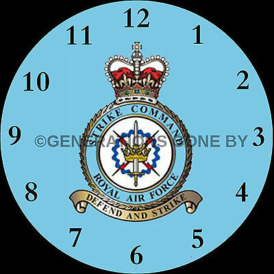 Royal Air Force Strike Command Glass Wall Clock