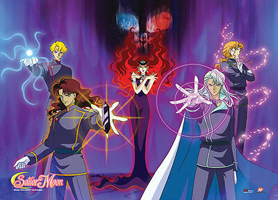 New Queen Beryl Group Sailor Moon Wall Scroll Anime Fabric Poster (GE-77709)