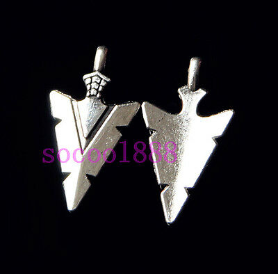 10Pcs Nice Tibetan Silver Arrow shape Charm Pendant Jewelry Finding 28mm