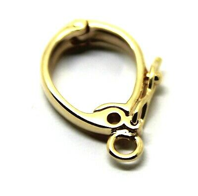 NEW GENUINE 15mm 9ct Yellow gold Enhancer Bail Clasp + jump ring & safety latch