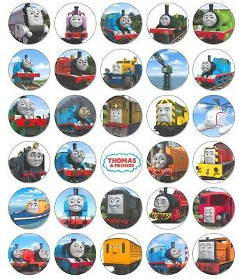 30 Thomas The Tank Engine Edible Cupcake Topper Wafer Paper Decoration