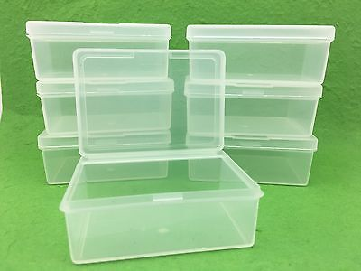 100x Plastic Storage Containers Boxes with Lids Sewing Pins Needles Cotton NEW